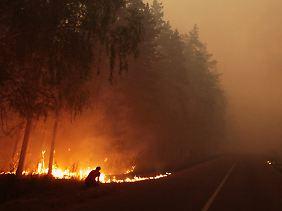 Rekordhitze und Waldbrände forderten in Russland viele Menschenleben.