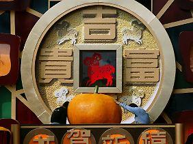 Mandarinen sind ein Glückssymbol in China.