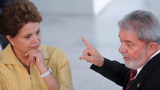 Sind wieder ein Team: Dilma und Lula.