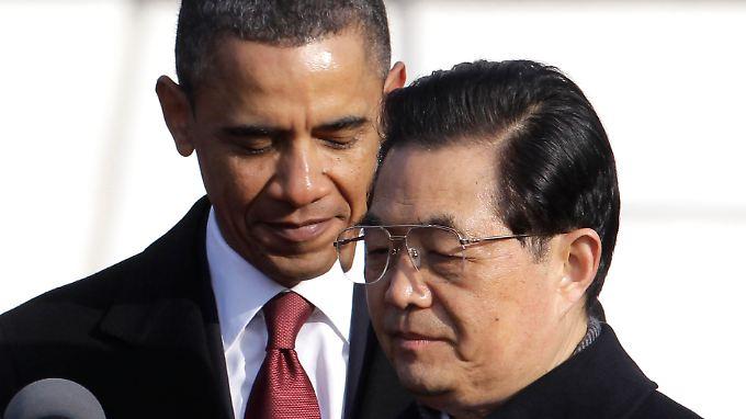 Kritischer Staatsbesuch: Obama empfängt Hu