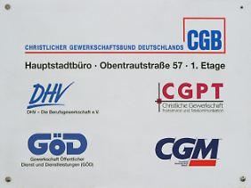 Die CGZP ist die Dachorganisation der christlichen Gewerkschaften.