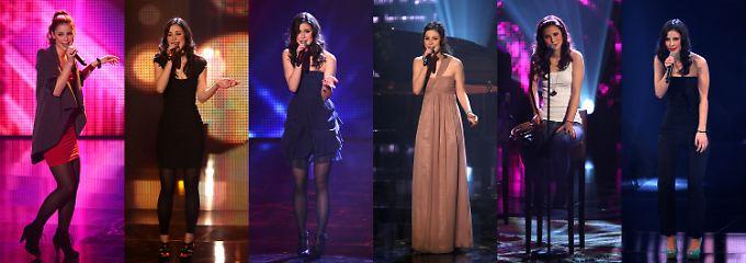 Lena zeigte sich bei jedem Song in einem neuen Outfit.