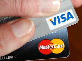 Deutliches Gewinnplus bei Visa und Mastercard.