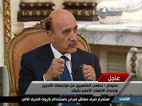 Vizepräsident Suleiman steht im Mittelpunkt der amerikanischen Lösung.