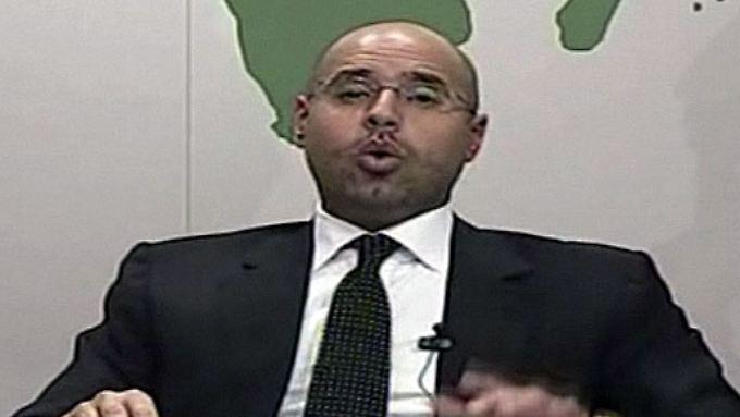 Gaddafi-Sohn warnt im TV: Bürgerkrieg in Libyen denkbar