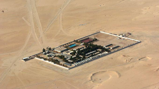 Das Camp der Wintershall-Mitarbeiter in der libyschen Wüste.