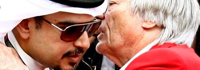 Kein Rennen in Bahrain: Entschieden hat das nicht Formel-1-Boss Bernie Ecclestone, sondern Kronprinz Scheich Salman bin Hamad al-Chalifa.
