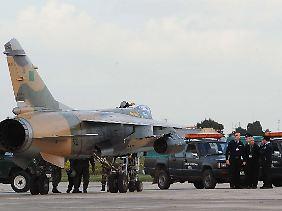 Einer der auf Malta gelandeten Mirage-F1-Jets.