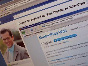 Im Internet sammeln Unterstützer und Kritiker Guttenbergs.