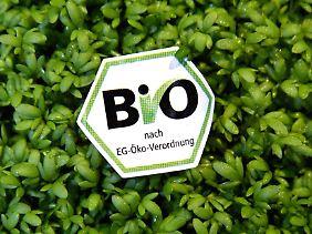 Mehr als 60.000 Lebensmittel tragen das sechseckige deutsche Biosiegel.