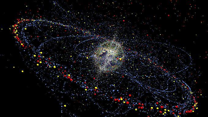 Braunschweiger Forscher haben ein Simulationsmodell entwickelt, in dem die Verteilung und die Bewegung von rund 150 Millionen Müll-Objekten im All erfasst sind.