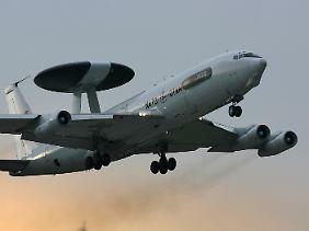 Ein Radar-Aufklärungsflugzeug der NATO.
