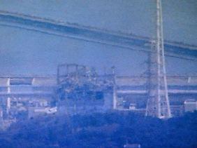 Das Foto zeigt den Reaktorblock 3 in Fukushima 1 nach der Explosion.