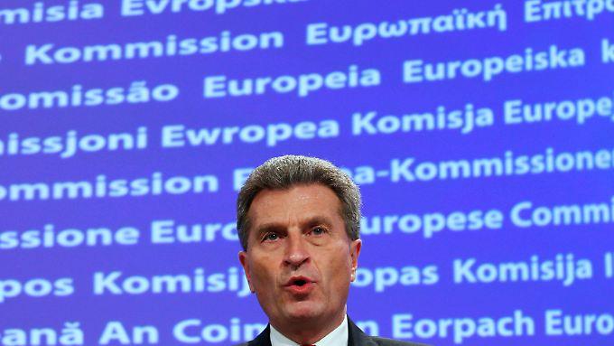 Oettinger wollte wohl seine Einschätzung wiedergeben - und wurde von den Reaktionen überrascht.