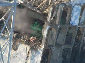 Die Explosionen haben im AKW Fukushima große Zerstörungen angerichtet (Foto: Reaktor 4).