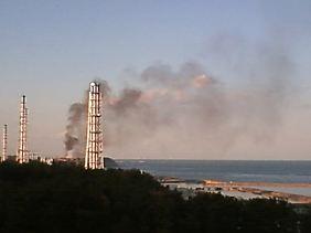 Schwarzer Rauch aus Reaktor 3.