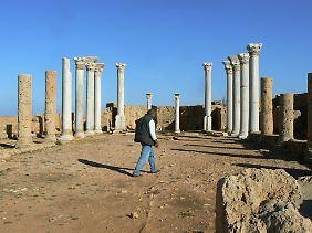 Die Ruinen der antiken griechische Hafenstadt Apollonia