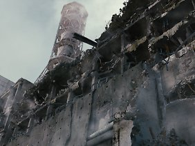 Der zerstörte Reaktor in Tschernobyl.