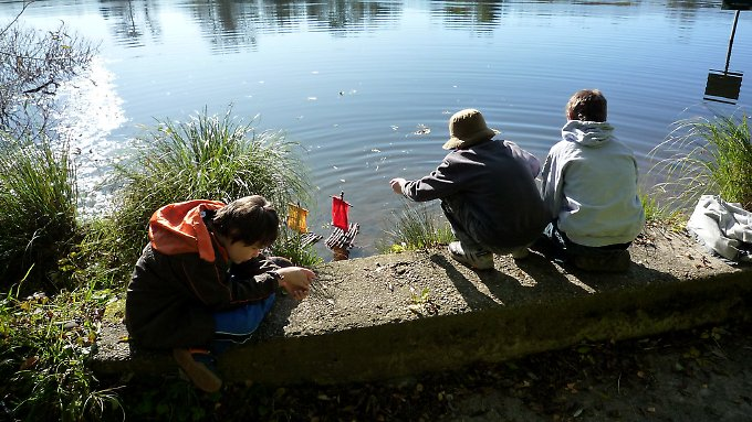 Kinder des Autismus-Zentrums in Schwaben.