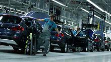 Produktion bei BMW in Leipzig.