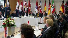 Die Sonder-Ministerpräsidentenkonferenz fand in der Landesvertretung Sachsen-Anhalts in Berlin statt.