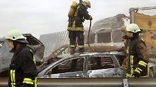 Massenkarambolage nach Sandsturm: A19 wird zum Inferno