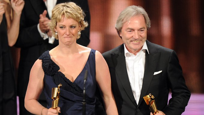 """Überglücklich: Die Produzenten von """"Vincent will Meer"""", Viola Jäger und Harald Kügler."""