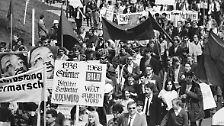 """... Beginn der """"68er"""", die Radikalisierung der Studentenbewegung, ..."""