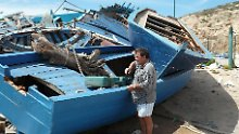 Der Schiffsfriedhof in Lampedusa wird immer größer.
