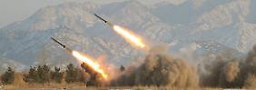 Raketenstart in Nordkorea im Jahr 2009.