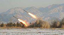 Raketenstarts in Nordkorea im Januar 2009.