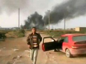 Bilder einer Explosion: Misrata wird heftig umkämpft.