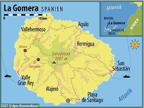 Die zweitkleinste der sieben Kanarischen Inseln: La Gomera liegt westlich von Teneriffa im Atlantik.