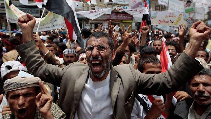 Die Proteste in Sanaa gehen weiter - bis Saleh zurückgetreten ist.