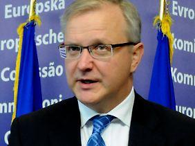 """""""Es ist keine Zeit mehr"""": Olli Rehn (Archivbild)."""