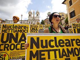 Die Italiener wollen keinen Wiedereinstieg in die Atomenergie.