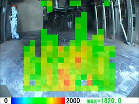 Aufnahme einer Gammastrahlen-Kamera im Reaktor 3 von Fukushima 1.