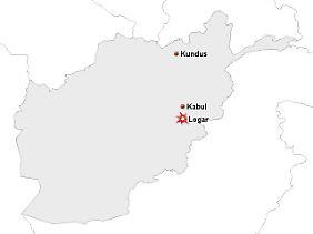Der Anschlag ereignete sich südlich von Kabul.