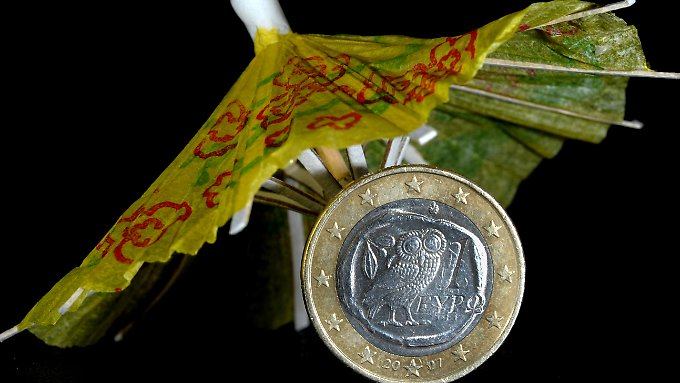Unter das kleine Schirmchen passt nicht viel mehr als Griechenland.