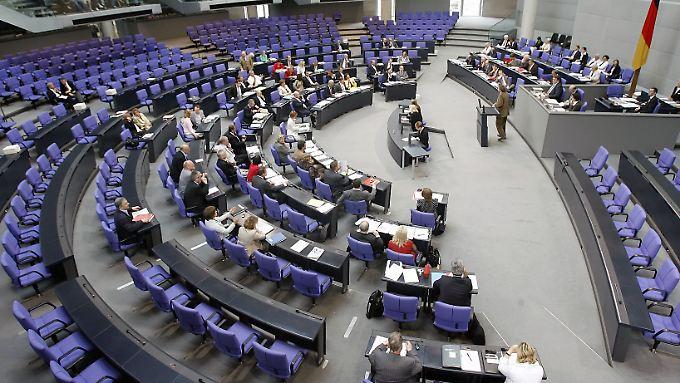 Nicht immer sind die Debatten im Plenarsaal des Bundestages gut besucht.