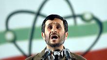 Der Iran um Präsident Mahmud Ahmadinedschad steht im Verdacht, Nuklearwaffen zu entwickeln.