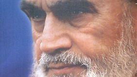 Zielscheibe des Sketches von Entertainer Rudi Carrell: Irans Ayatollah Khomeini.