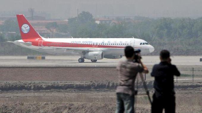 Start zum Jungfernflug: Der A320 ist der erste in China gebaute.