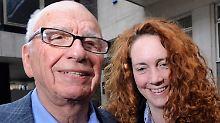 Murdoch und Brooks vor wenigen Tagen in London.