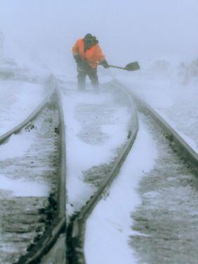 Extreme Witterungsbedingungen, anspruchsvolles Terrain: Die Deutsche Bahn soll bis zum Polarkreis Gleise legen.