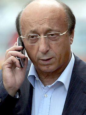Moggi manipulierte Ligaspiele zugunsten von Turin.