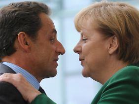 Auf der Suche nach einer gemeinsamen Linie:Nicolas Sarkozy und Angela Merkel.