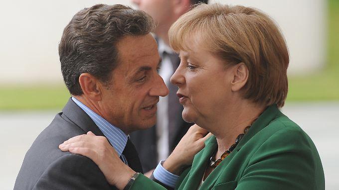 Rettung des Euro: Schulterschluss zwischen Merkel/Sarkozy