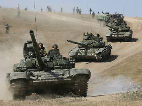 Das Militärmanöver der Russen weckt Erinnerungen an den Kaukasus-Krieg im Sommer 2008.