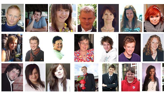30 von 77 Opfern: Die Familien der Toten geben die Bilder frei.